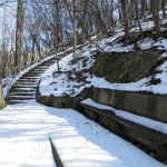 The stairs kept going up the side of the bluff for a total of 190 steps.