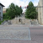 The Court House Stairs are a memorial to Lynchburg citizens who lost their life in war. Each landing honors a different war.