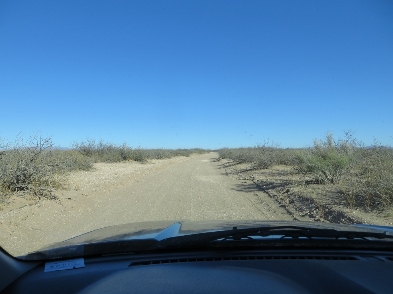 Driving through the Chihuahuan Desert to the Kilbourne Hole