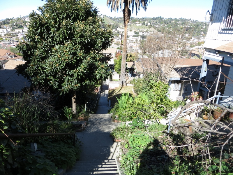 There were several houses facing this dead end stairway.