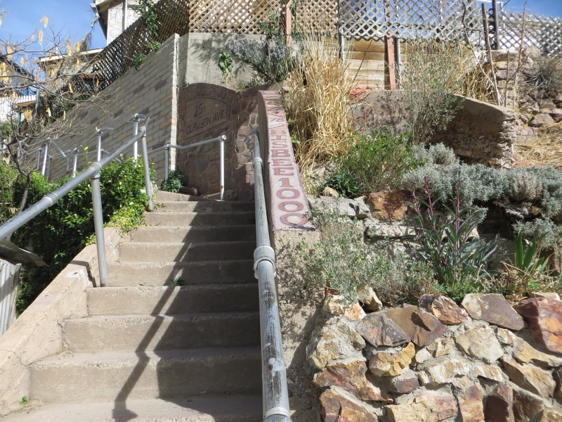 Here's one of the stairways on the route of the Bisbee 1000.