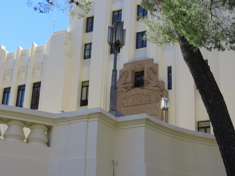 But Bisbee is not just a tourist town; it is also the county seat. Here is its art deco courthouse, still very much in use.