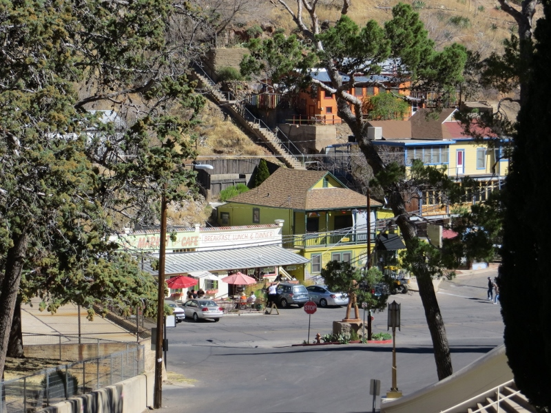 You can see an example of Bisbee's stairs in the background.
