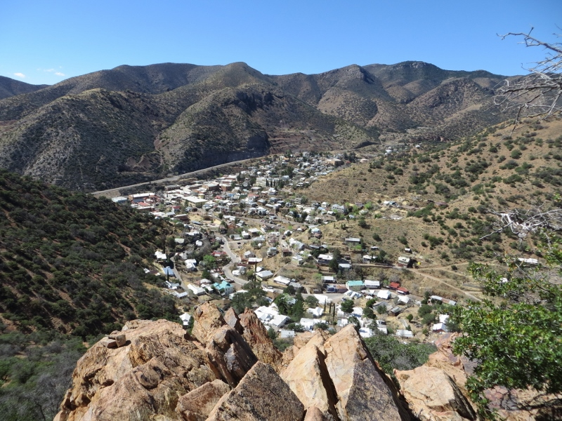 There's even a great view of Bisbee.