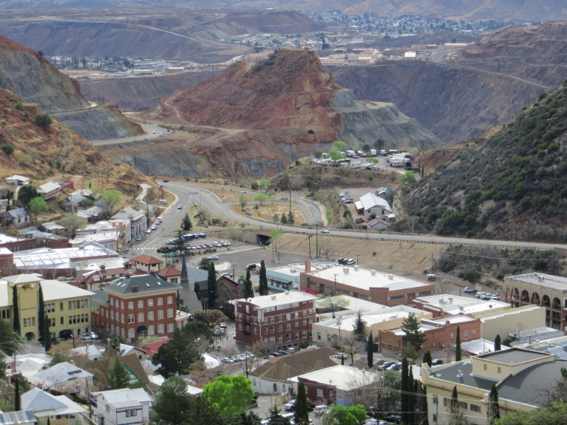 Or you might get a good view of the open pit mine that was closed in the 1970s from high above Bisbee.