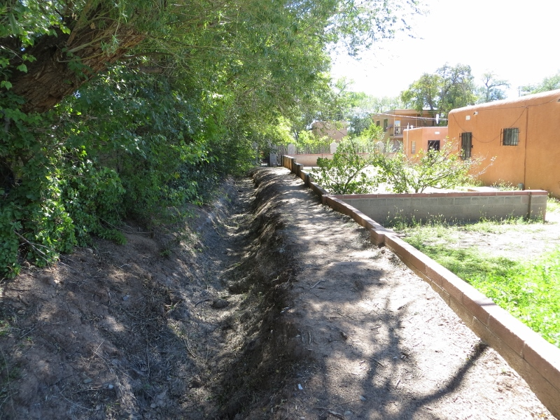 Eventually I like to get off the main path and follow one of the hundreds acequia ditches.