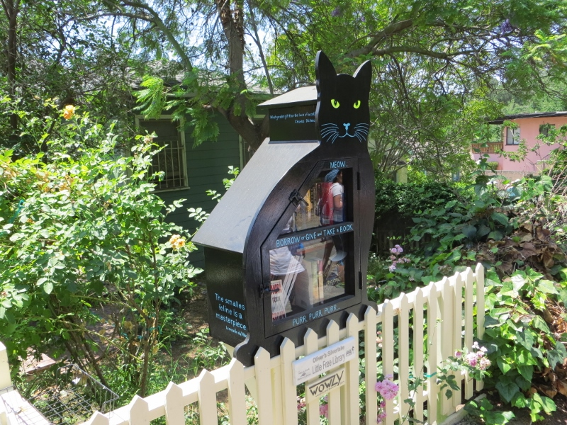 And another neighbor gave us this wonderful little library.