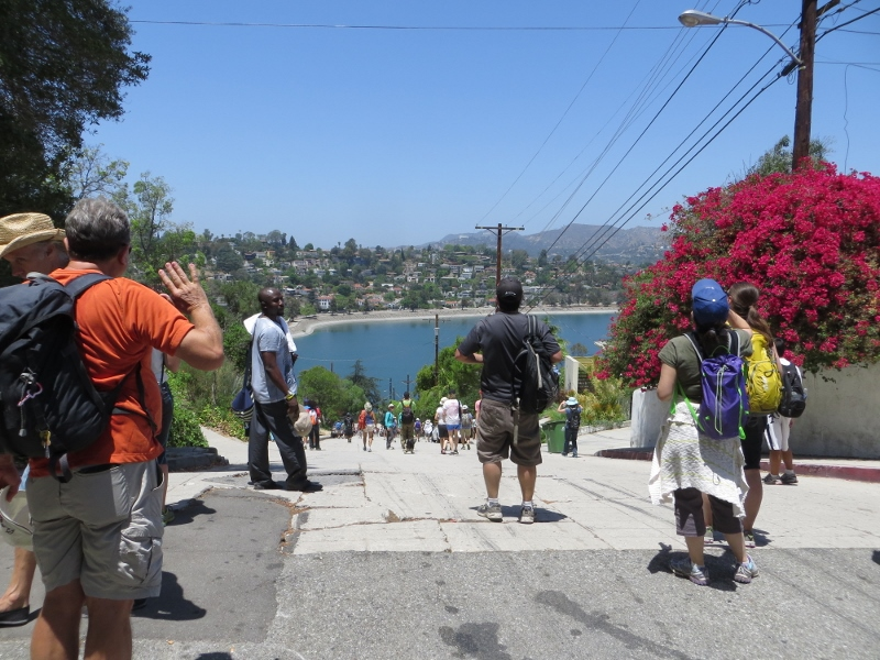 Here is one of the many steep streets we walked on during the Parade. A stairway would have been nice here.