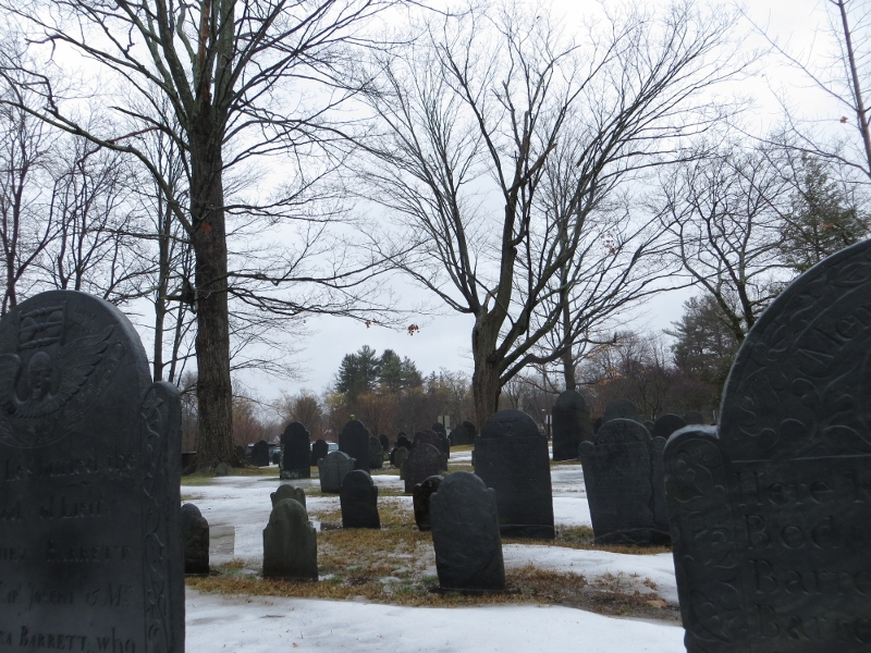 New Mexico is not the only place to check cemeteries. They are worth checking out everywhere. here's a picture of a cemetery I took in Massachusetts last winter.