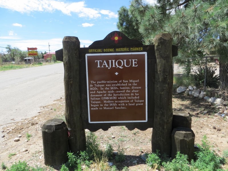 Tajique has a roadside historical marker. Chilili does not. No surprise there.