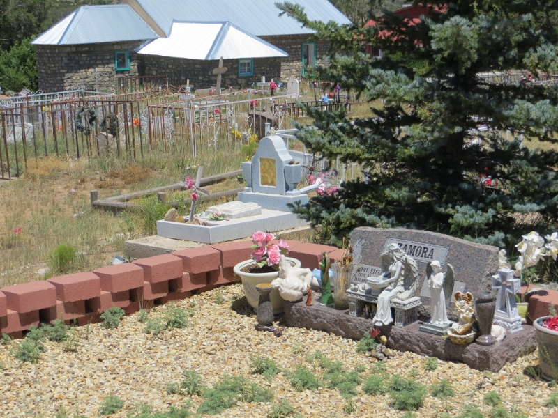 The Tajique cemetery from a different angle.