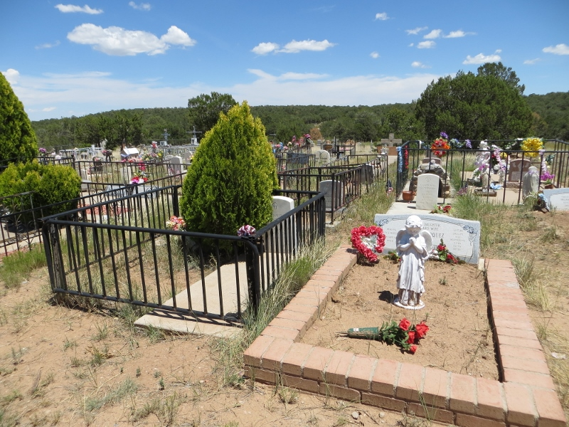 here's another view of the Chilili cemetery.