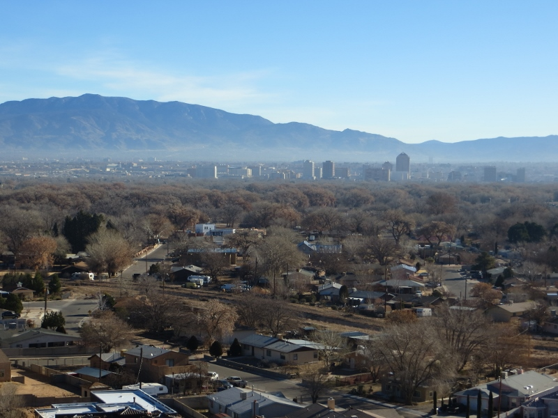 Looking across Albuquerque to the east. Can you imagine what this would look like at night?