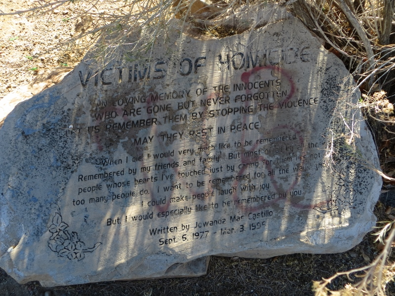 """Along with the views there was also this monument to the """"Victims of Homicide"""" at the top!"""