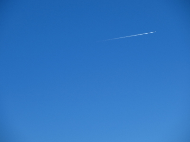 One of the few contrails we saw.