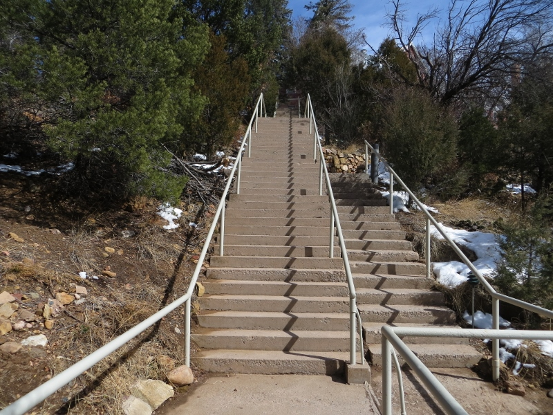 This stairway has 129 steps and leads from the lower campus to the Castle.