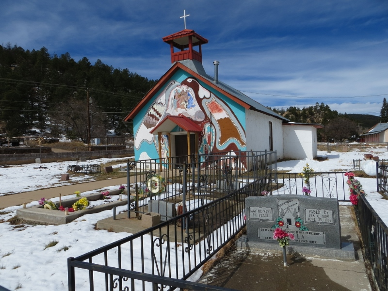 It's impossible to go anywhere in New Mexico without running into an interesting church. This church is on the road to the Castle.