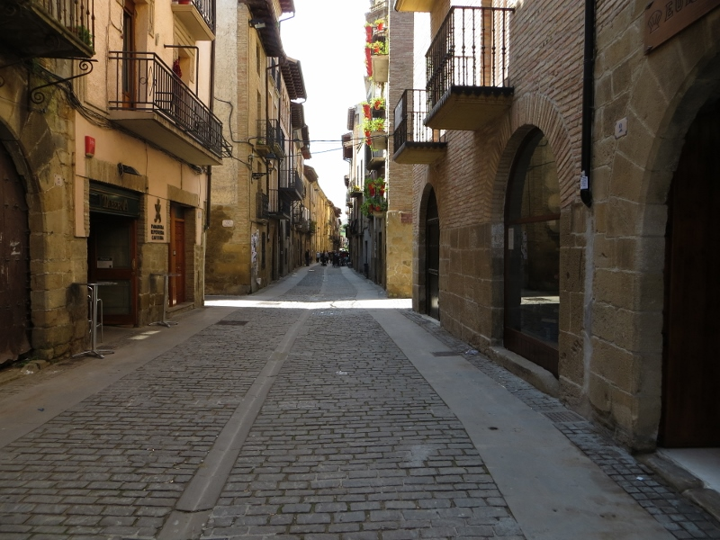 The Camino would always go through the oldest part of a town. This is Puente la Reina.