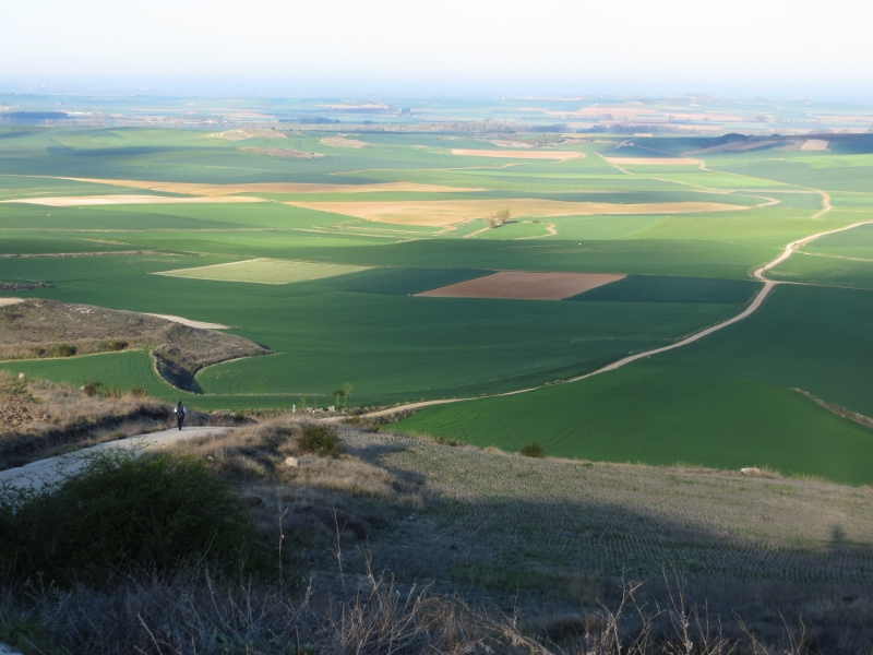 Entering the Meseta west of Burgos.