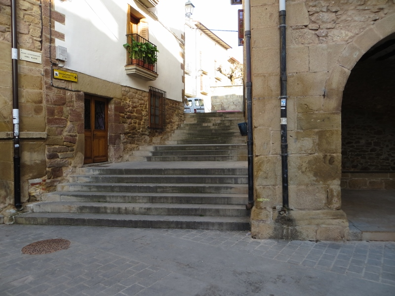And regular steps all along the Camino route. Every town was made for walking!