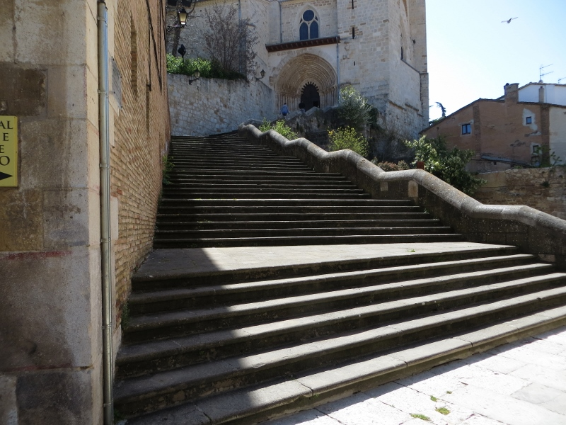 In the center of Estella, it was 69 steps from the Camino route to the church door.