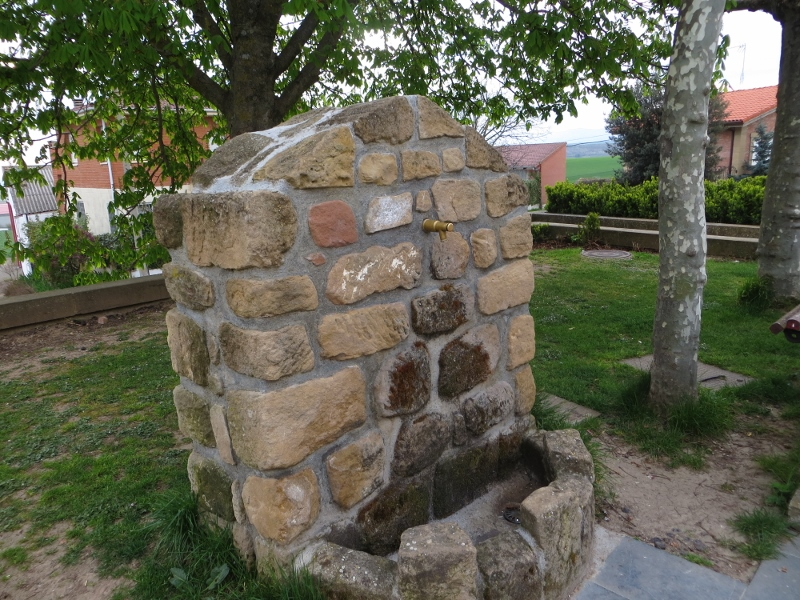 A fountain like this was in every town along the Camino.