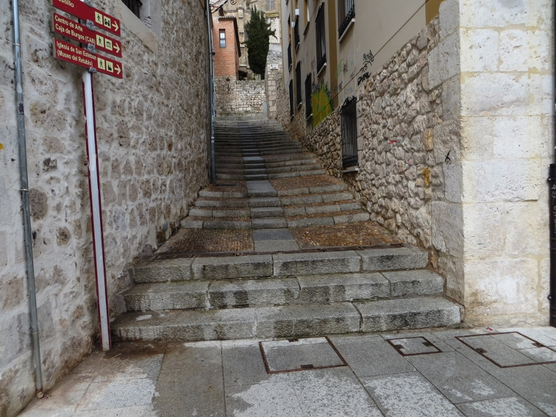 I spotted this stairway behind the cathedral. The stairway made a couple of turns to reach ...