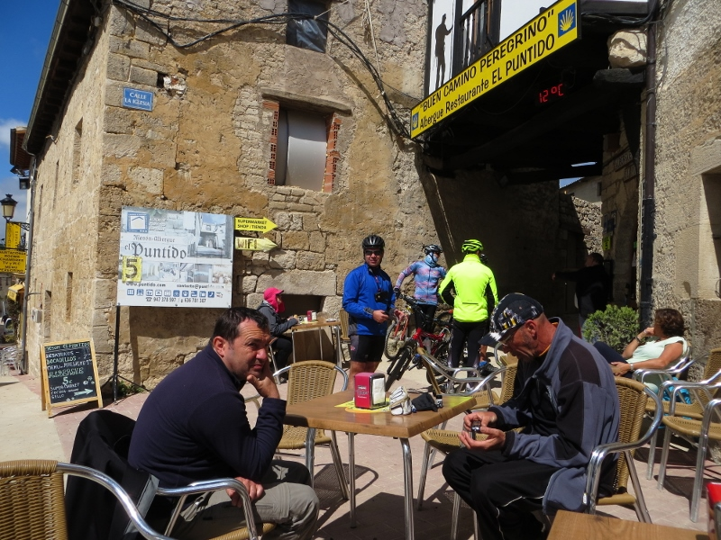 Almost every town along the Camino had a bar like this where you could get something to eat or drink.