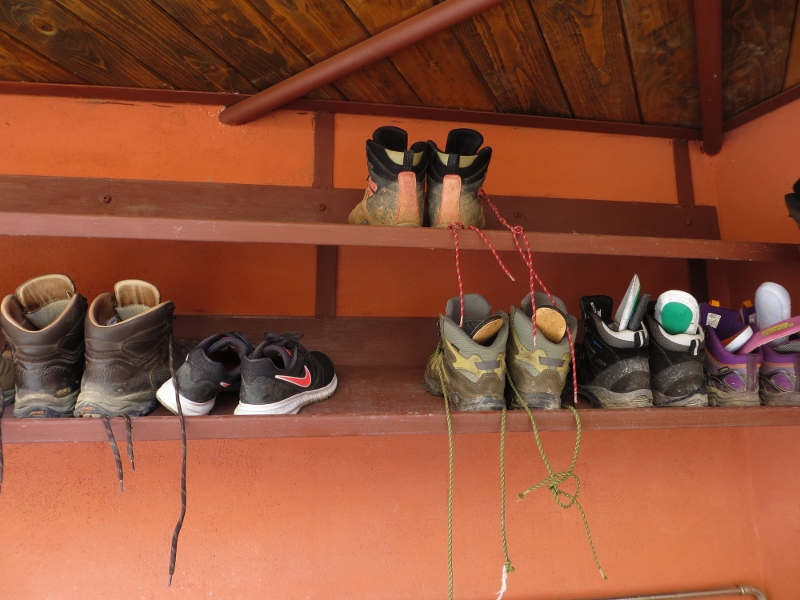 A typical boot rack.