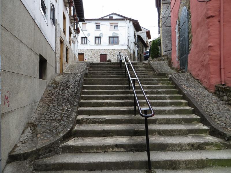 Both Villafranca del Bierzo and Sarria had several stairways. This one is in Villafranca.