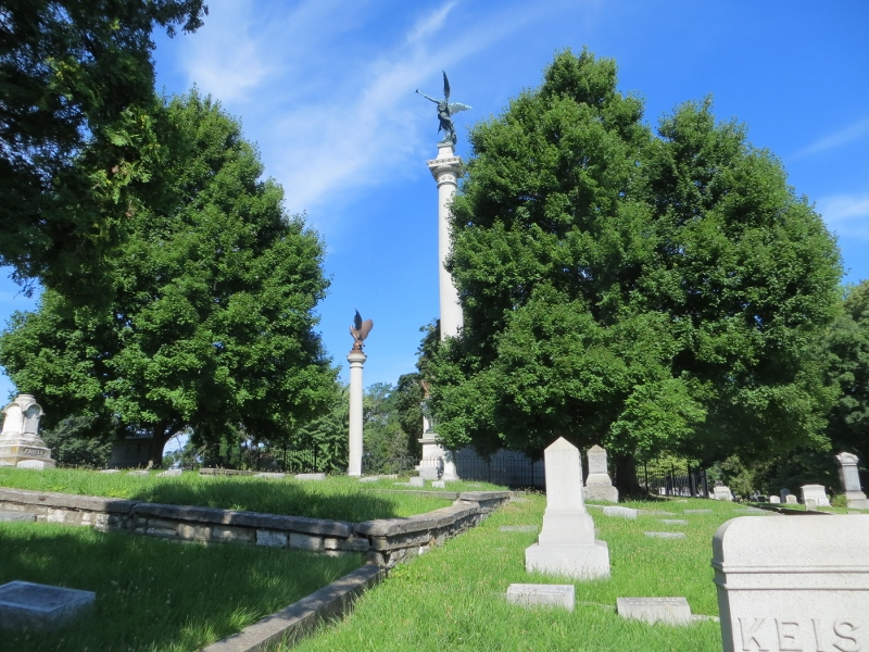 The Alton cemetery has a monument to Elijah P. Lovejoy. He was a Presbyterian minister who ran an anti-slavery newspaper. He was killed by a pro-slavery mob in 1837. Some people consider him to be the first casualty of the Civil War.