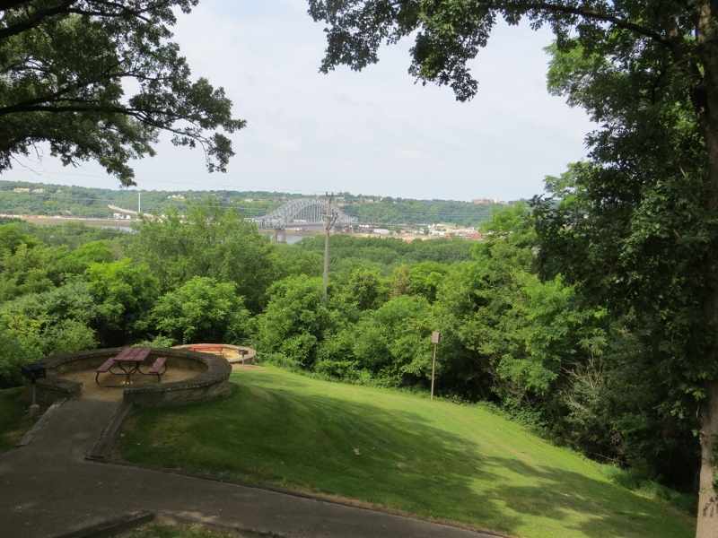 There were wonderful views from the top of the bluff. That's the U.S. Highway 20 bridge leading into Dubuque, Iowa.