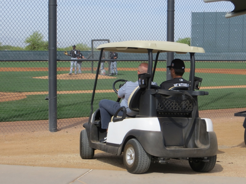 But in one of the fields something was going on to attract the attention of White Sox manager Robin Ventura.
