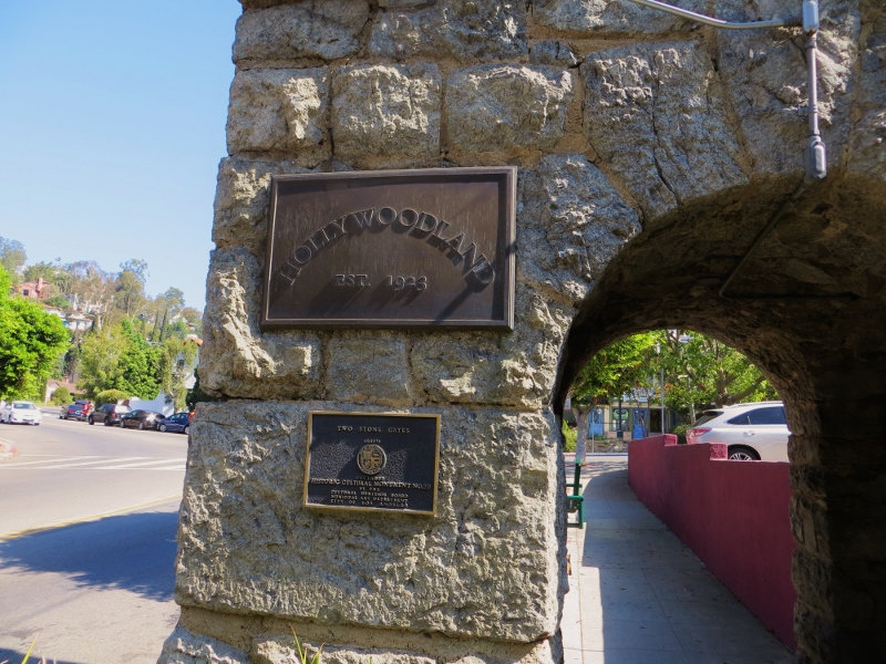As you can see by the plaque on the gate, the neighborhood was developed around 1923. You will see the gray granite many times along the way!