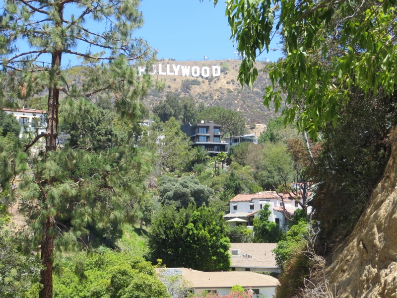 As we went down the Hollywood sign was never far out of view.
