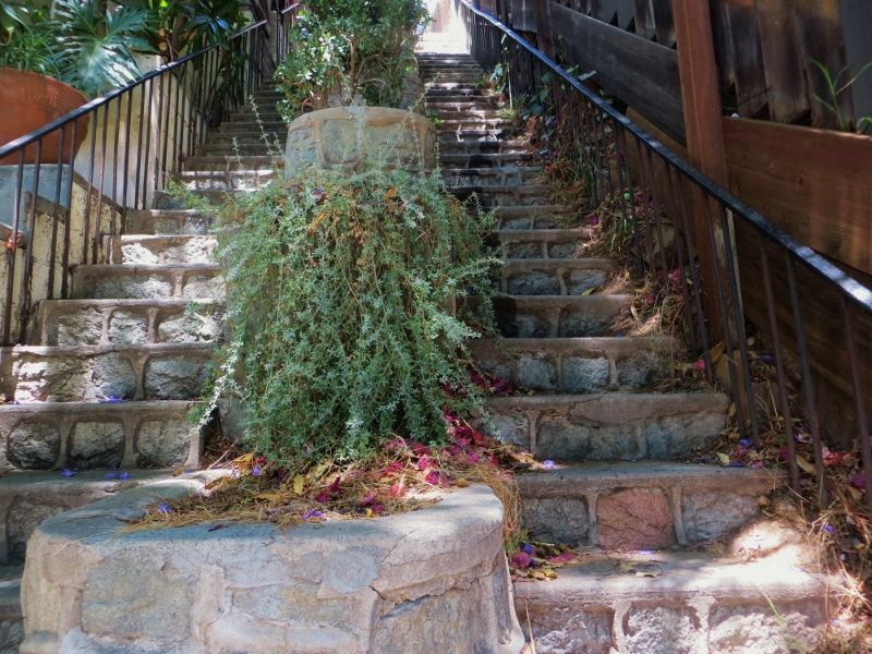Here's the stairway from the bottom.