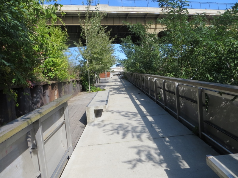 From the plaza, it was only ten more steps to an old railroad right-of-way that is now a walking and bike path.
