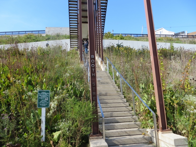 We soon reached this unusual stairway at Booth street.