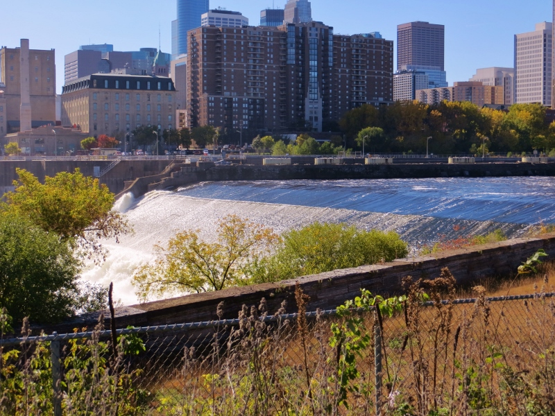 This how St. Anthony Falls looks today.