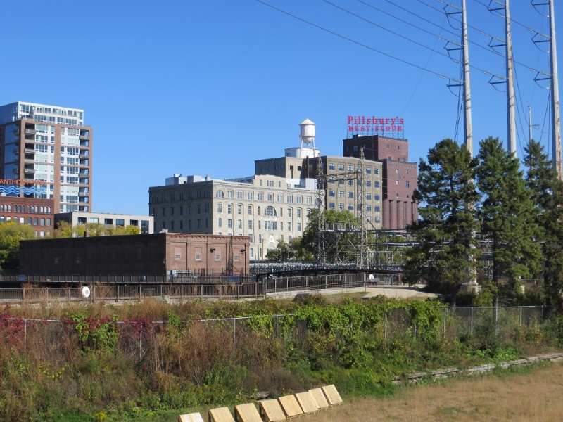 This old Pillsbury flour mill across the river from downtown ceased operations in 2003.