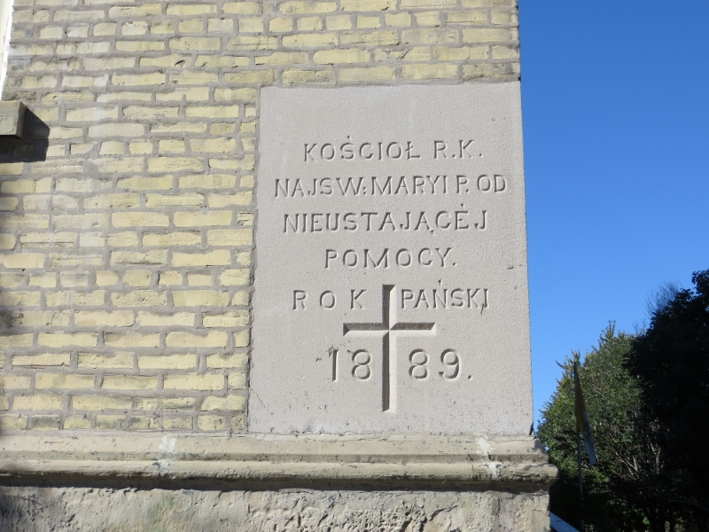 Here's the corner stone in Polish for St. Mary's.