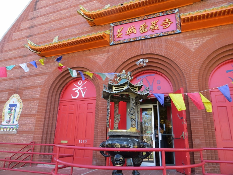 This Buddhist temple used to be a Presbyterian church and is right door to the Catholic monastery.