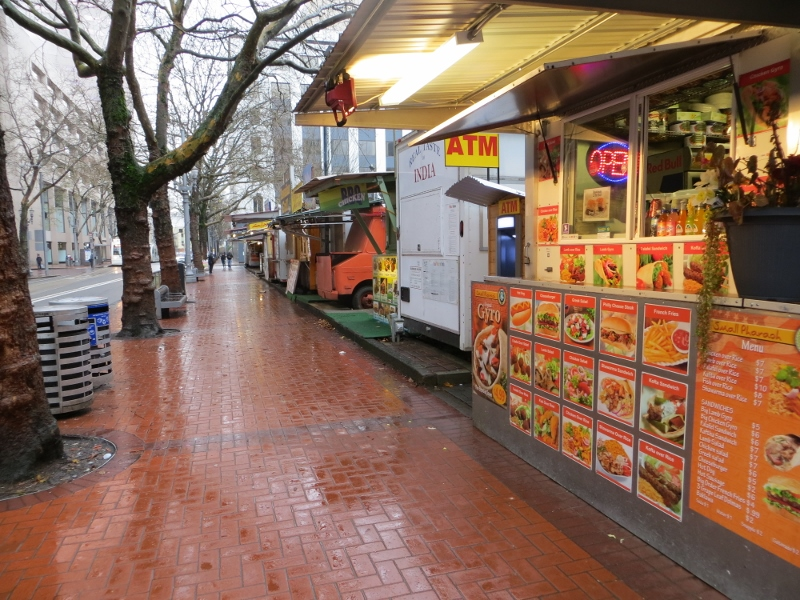 "Food cart are another ""foot friendly"" aspect of Portland. If they were not invented in Portland, they can be found almost everywhere and are certainly iconic of Portland."