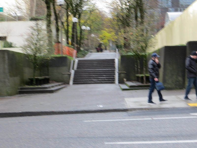 Many of the residential areas in downtown Portland have pedestrian only walkways.