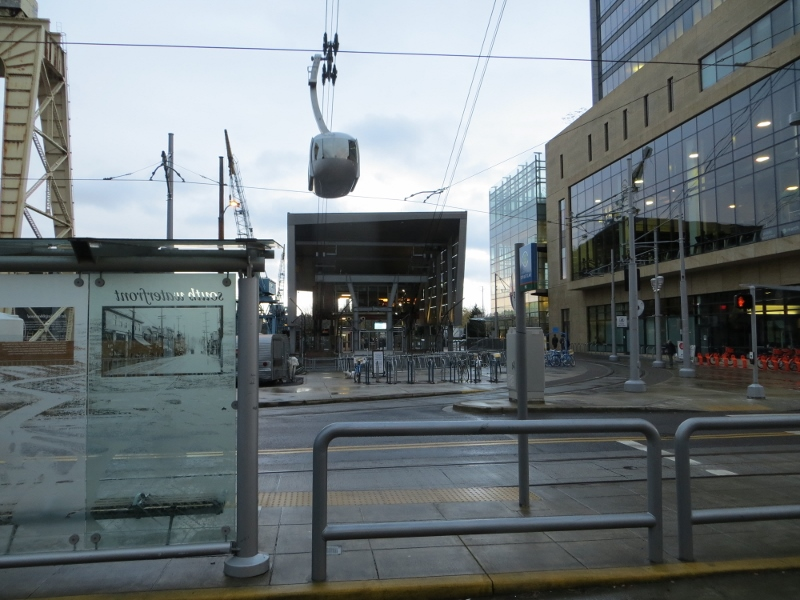 Before we knew it, we were at Portland's Aerial Tram.