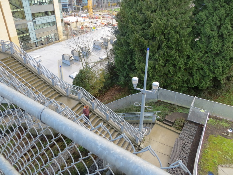 Here's a look at the stairs from the bridge.