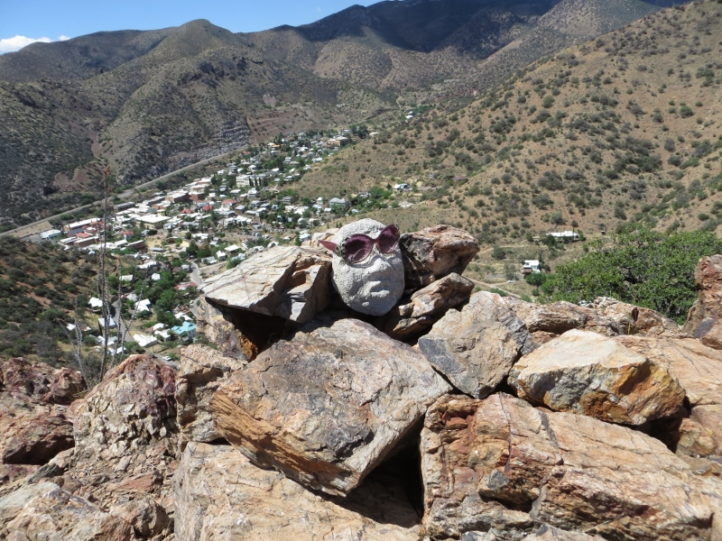 And you'll find this guy on a mountain top overlooking Bisbee.