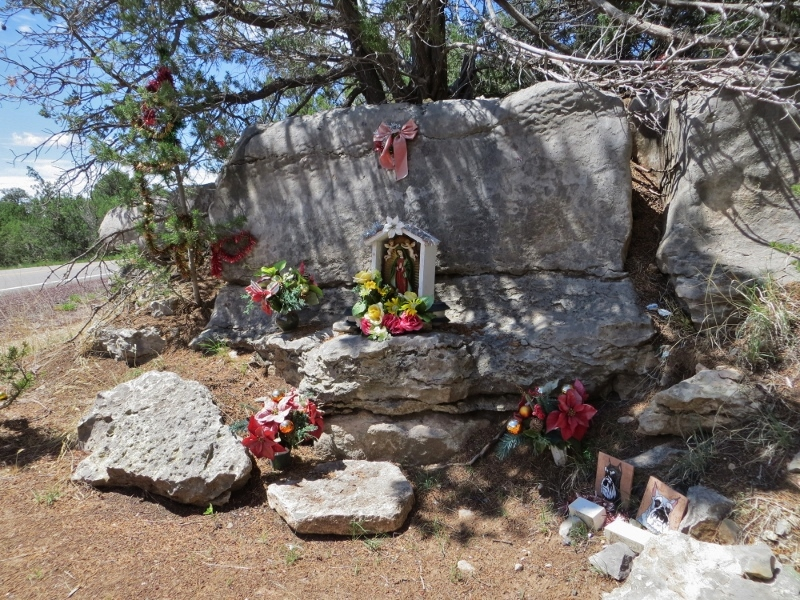 If you're driving in New Mexico, you spot roadside shrines, called Descansos, to honor those killed in a car crash.
